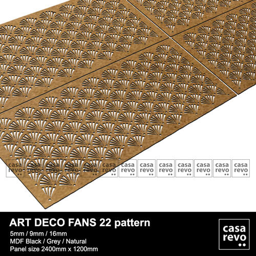 ART DECO MDF Panels by CASAREVO Fans Pattern