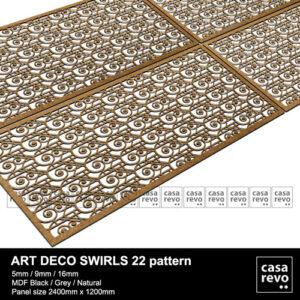 CASAREVO MDF art deco Swirls pattern