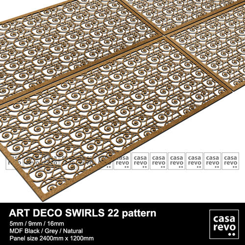 CASAREVO MDF art deco Swirls pattern