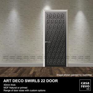 ART DECO SWIRLS DOOR GREY