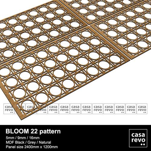 MDF Fretwork panel BLOOM Designs CASAREVO