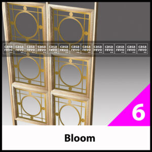 BLOOM COVID gold glazed screen room partitions