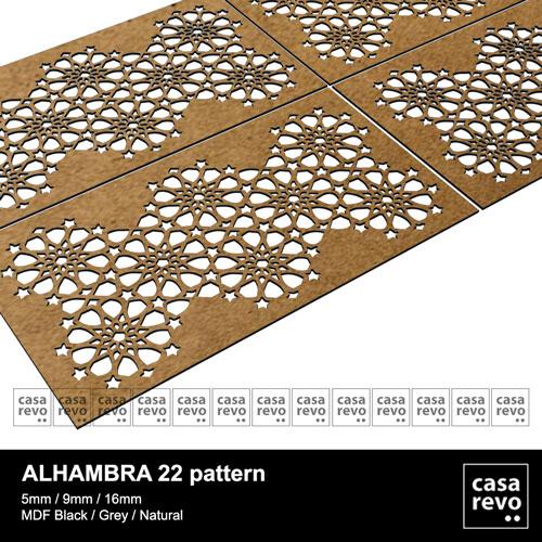 CASAREVO MDF Islamic pattern Alhambra