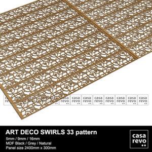 Art DECO MDF SWIRLS 33 panels