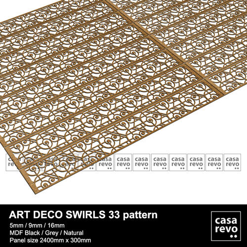 Art DECO MDF SWIRLS 33 panels