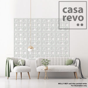 MOLLY white MDF tile by CASAREVO