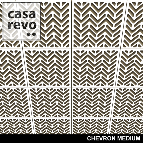 CHEVRON MEDIUM CEILING TILE BY CASAREVO