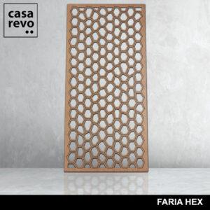 FARIA HEX mdf screen by CASAREVO