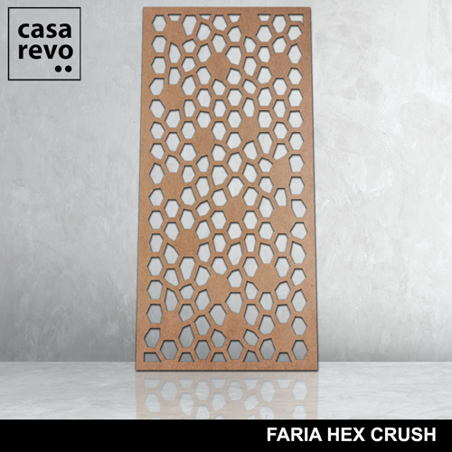 FARIA HEX CRUSH LARGE MDF PANELS