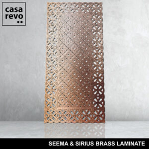 SEEMA AND SIRIUS MDF brass panels by CASAREVO