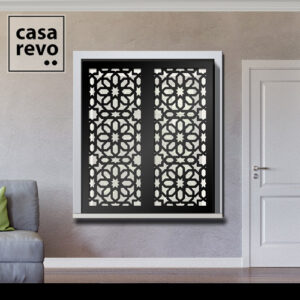 ALAZ Arabic Black Window Shutters Outer Recess