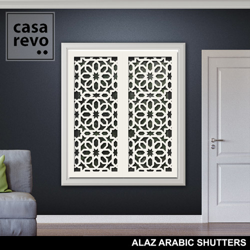 ALAZ ARABIC MDF WHITE SHUTTER DESIGN