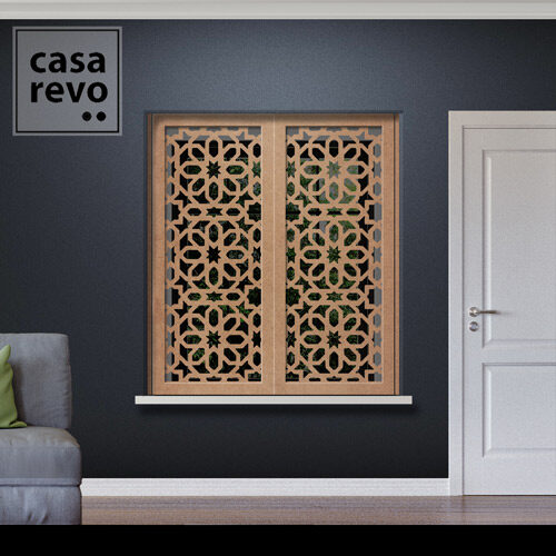 ALAZ Arabic MDF Window Shutter Inner Recess