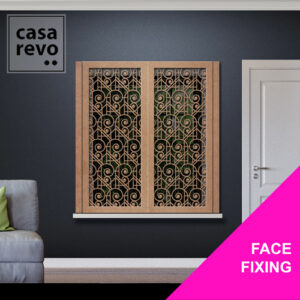 CASAREVO ART DECO SWIRLS WINDOW SHUTTER