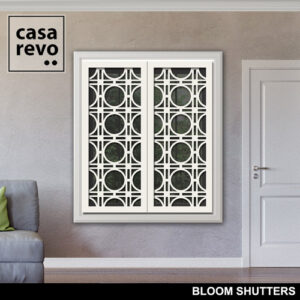 BLOOM White Window Shutters by CASAREVO