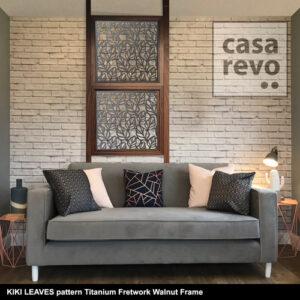 CASAREVO room divider KIKI LEAVES titanium