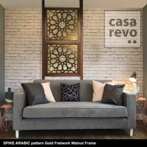 CASAREVO room divider Spike Arabic Gold