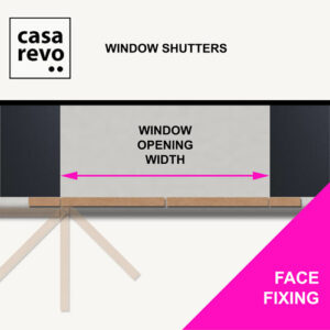 CASAREVO MDF Window Shutters FACE FIXING MEASURE
