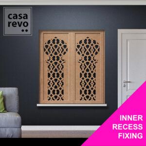 CASAREVO MDF Window Shutters INNER RECESS FIXING