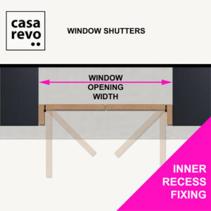 CASAREVO MDF Window Shutters INNER RECESS DIMENSION