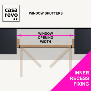 CASAREVO MDF Window Shutters INNER RECESS MEASURE