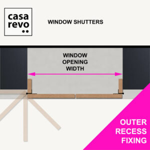 CASAREVO MDF Window Shutters OUTER RECESS MEASURE