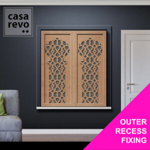Outer Recess Fixing window shutters by CASAREVO