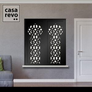 SOLO ARABIC Black Window Shutters Inner Recess