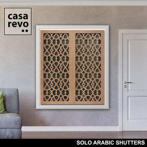 SOLO ARABIC MDF Window Shutter designs
