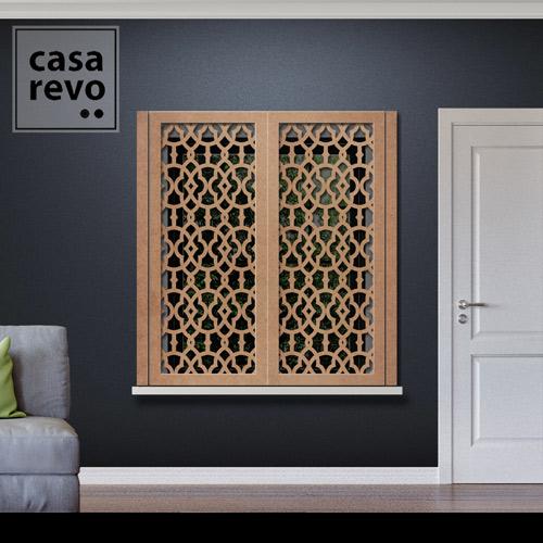 Solo Arabic MDF Window Shutters Face Fixed by CASAREVO
