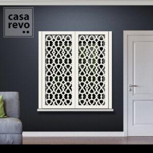 Solo Arabic White Window Shutters Face Fixed