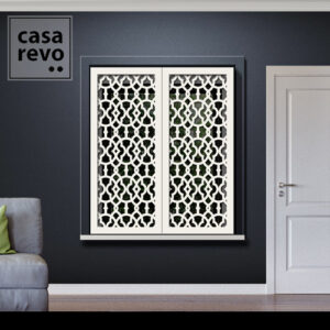 Solo Arabic White Window Shutters Outer Recess