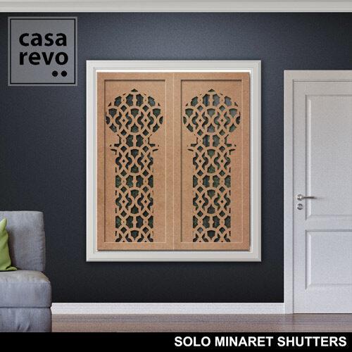 SOLO MINARET MDF WINDOW SHUTTERS by CASAREVO