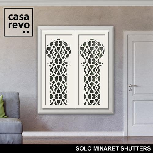 SOLO MINARET WHITE WINDOW SHUTTERS by CASAREVO