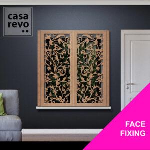 CASAREVO STEM FLORAL WINDOW SHUTTERS