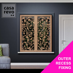 STEM FLORAL WINDOW SHUTTERS BY CASAREVO