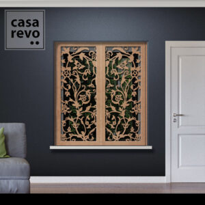 Stem Floral MDF Window Shutters Inner Recess