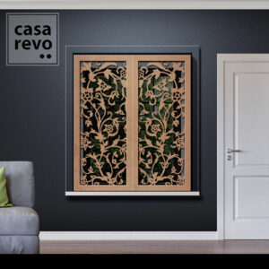 Stem Floral MDF Window Shutters Outer Recess