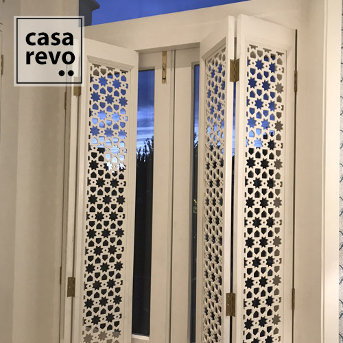 White Moroccan STAR window shutter by CASAREVO