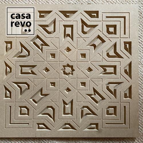 sira arabic cnc carved mdf screen by casarevo
