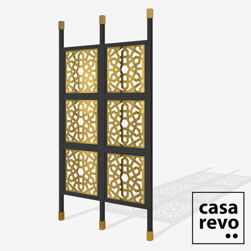 CHENNAI Gold Black frame 6 panel room partition