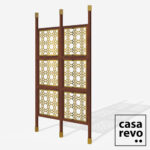 MAINE Gold Sapele frame 6 panel room partition