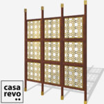MAINE Gold Sapele frame 9 panel room partition