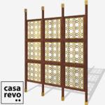 MAINE Gold Sapele frame 9 panel room partition