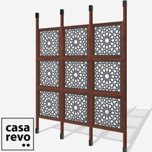 SPARK ARABIC Titanium Grey Sapele 9 panel room divider
