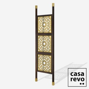 SPARK ARABIC GOLD 3 panel Walnut stain room partition
