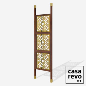 SPARK ARABIC GOLD 3 panel Sapele stain room partition
