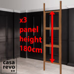 CASAREVO room partitions panel height dimension