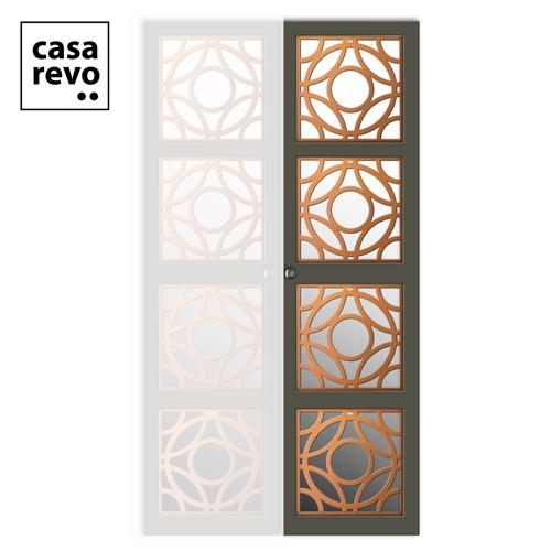 CASAREVO WARDROBE DOOR RHOYA copper and grey