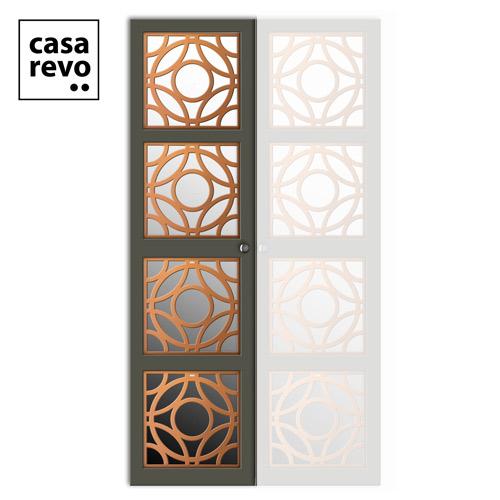 CASAREVO WARDROBE DOOR RHOYA RIGHT copper and grey